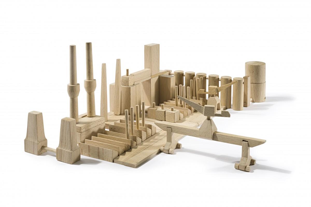 Baukasten: Industrieanlage, Entwurf: Ernst Rudolf Vogenauer, 1949