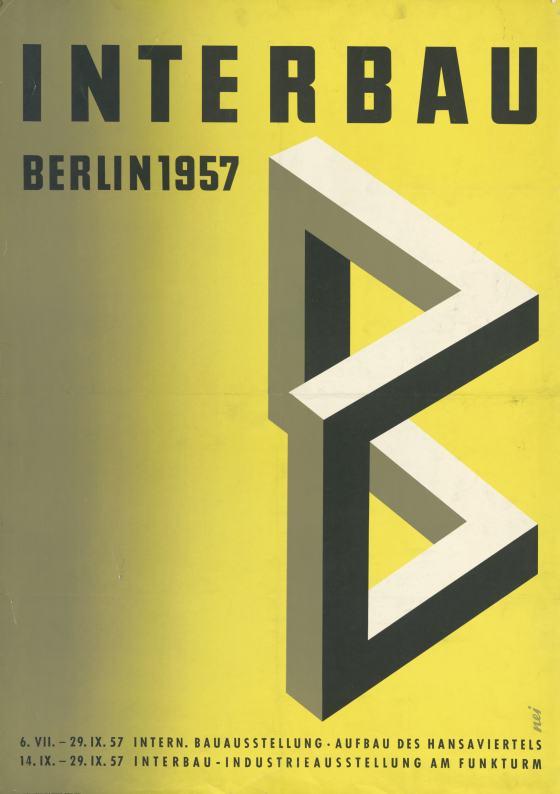 Georg A. Neidenberger, Plakat zur Internationalen Bauausstellung Berlin 1957, Staatliche Museen zu Berlin – Kunstbibliothek