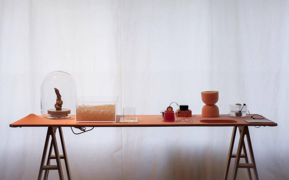 'sensing materials lab', Forschungsprojekt Weißensee Kunsthochschule und Bauhaus Dessau. Foto: Olivia Kwok